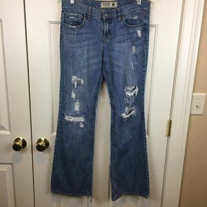 PINK Victorias Secret Jeans 8R DistressedDestroyed